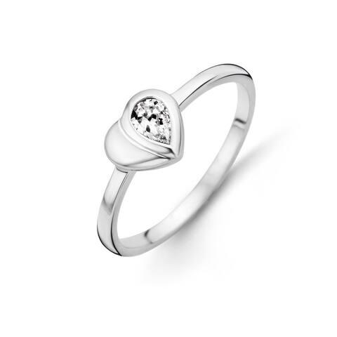 Kipling Children Sterling Silver Heart Cz Ring