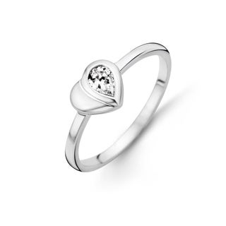 Kipling Children Sterling Silver Heart Cz Ring