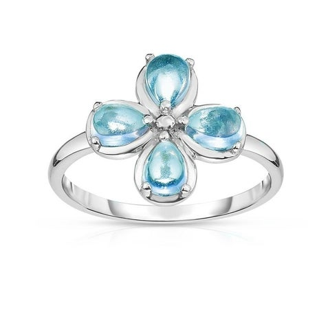 Kipling Kids Sterling Silver Blue Flower Ring