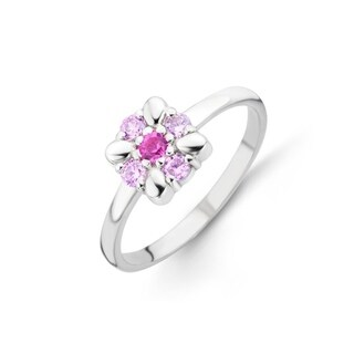Kipling Kids Sterling Silver Colorful Cz Ring