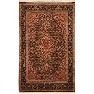 Handmade Herat Oriental Persian Hand-knotted Tabriz Wool and Silk Rug - 3'3 x 5'1 (Iran)