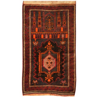 Handmade One-of-a-Kind Balouchi Wool Rug (Afghanistan) - 2'8 x 4'8