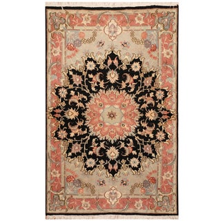 Handmade One-of-a-Kind Tabriz Wool and Silk Rug (Iran) - 3' x 5'