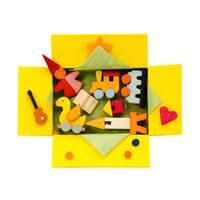 "Alexander Taron Graupner Ornament - Open Gift Box with Ornaments - 2.5""H x 3""W x 1""D"