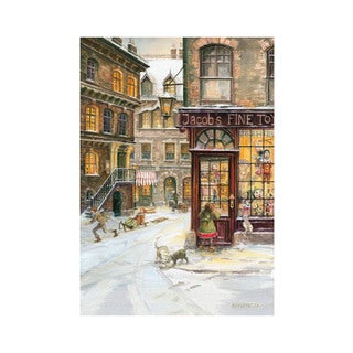 "Alexander Taron Bruck & Sohn Advent - Toy Shop - 10.5""H x 15""W x .01""D"