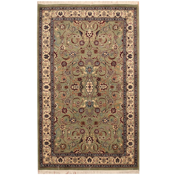 Hand Knotted Persian Isfahan Wool Area Rug: Shop Handmade Herat Oriental Pakistani Hand-knotted