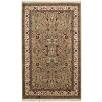 Handmade Herat Oriental Pakistani Hand-knotted Isfahan Wool and Silk Rug - 3'1 x 5'2 (Pakistan)