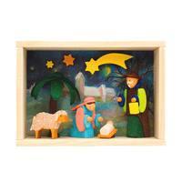 """Alexander Taron Graupner Matchbox - Nativity Scene - 3""""H x 4""""W x 1.5""""D"""