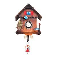 "Alexander Taron Engstler Key Wound Clock - Mini Size - 6""H x 5""W x 3.5""D"