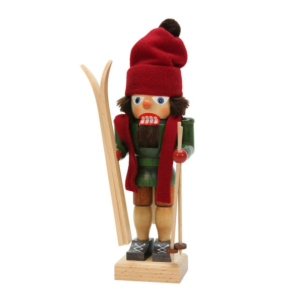 "Alexander Taron 11"" Christian Ulbricht Holiday Seasonal Skier Nutcracker"