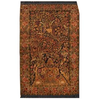 Handmade Herat Oriental Turkish Hand-knotted Tribal Hereke Silk Rug (2'10 x 4'7)