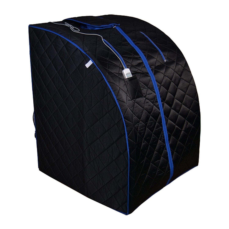 Aleko Personal Folding Home Infrared Sauna with Folding C...