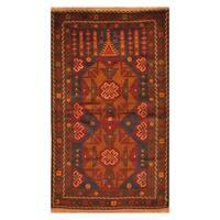 Handmade Herat Oriental Afghan Hand-Knotted Tribal Balouchi Wool Rug  - 3'2 x 5'2 (Afghanistan)