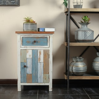 Multicolor Wood Small Rustic Console Cabinet