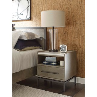 Tommy Hilfiger Ascher Grey Ash Finish Bedside Table