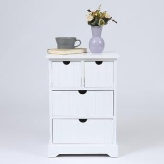 Shop White Beadboard Wood Cabinet - Overstock - 19224144
