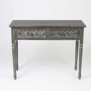 Distressed Ash Wood 2-drawer Console Table