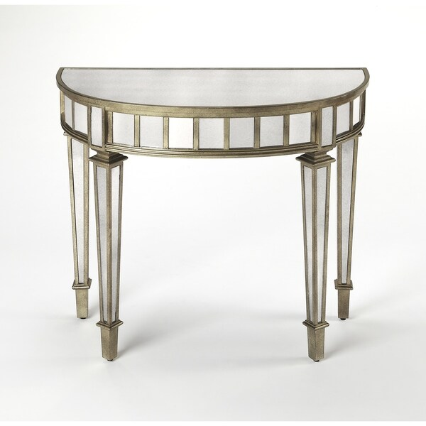 Butler Garbo Mirrored Demilune Console Table