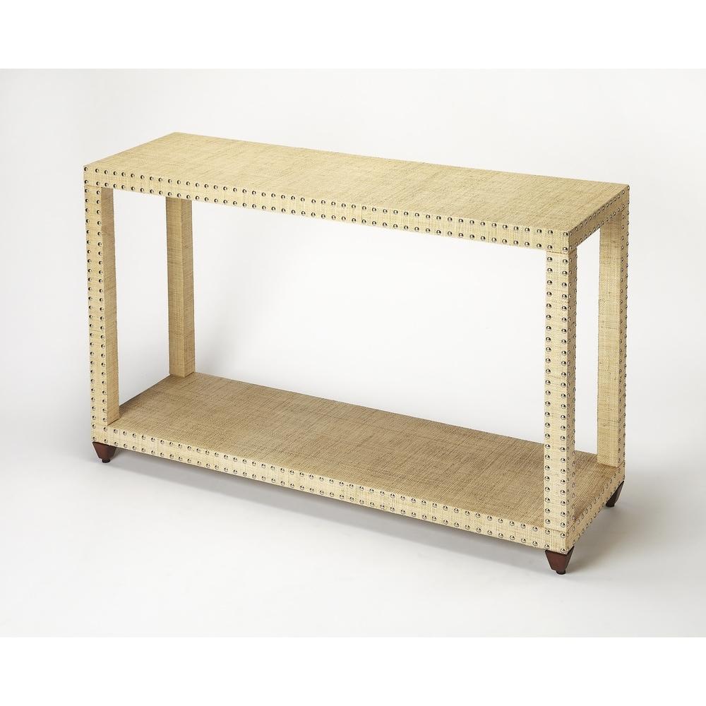 Butler  Danilo Cream Raffia Console Table