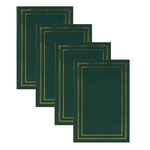 DesignOvation Traditional Photo Albums, Holds 300 4x6 Photos, Set of 4