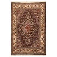 Handmade Herat Oriental Persian Hand-Knotted Wool and Silk Tabriz Wool Rug (Iran) - 3'3 x 5'
