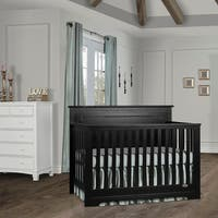 Dream On Me Morgan 5 in 1 Convertible Crib - Black