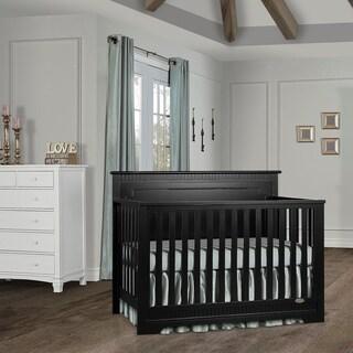 Dream On Me Morgan 5 in 1 Convertible Crib - Black