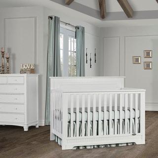 Dream On Me Morgan 5 in 1 Convertible Crib - White