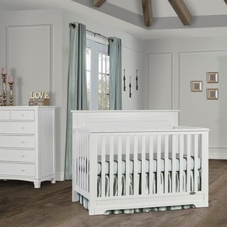Dream On Me Morgan 5 in 1 Convertible Crib - White