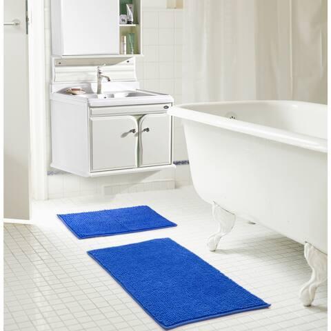 RT Designers Collection Kara Short Pile Chenille 2-Piece Bath Mat Set