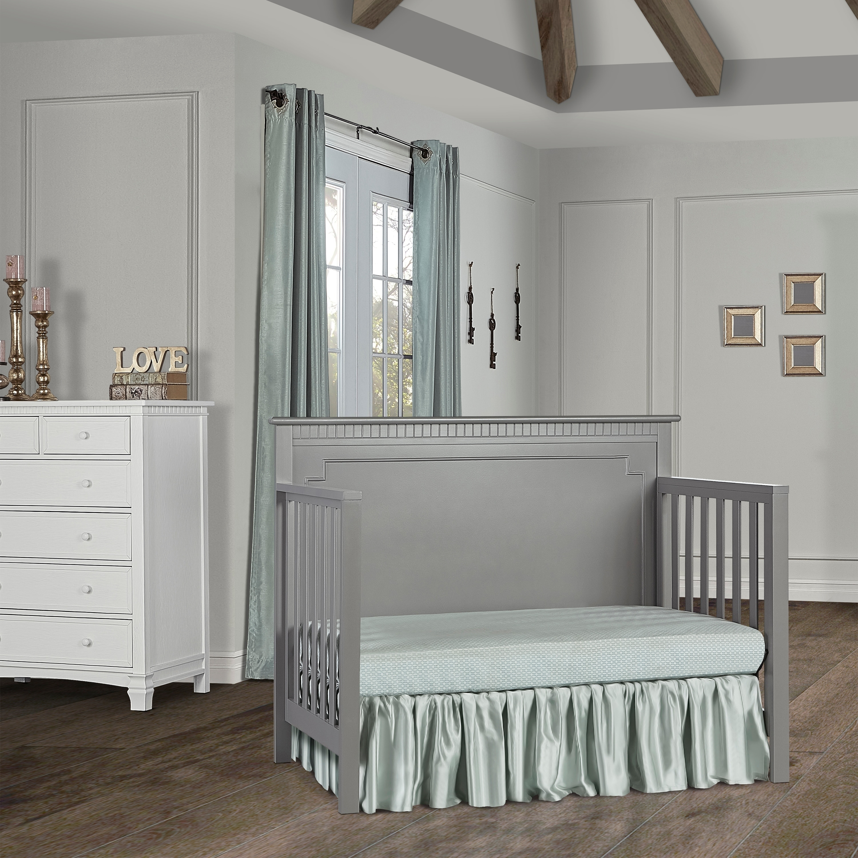 Dream On Me Morgan 5 in 1 Convertible Crib Storm Grey