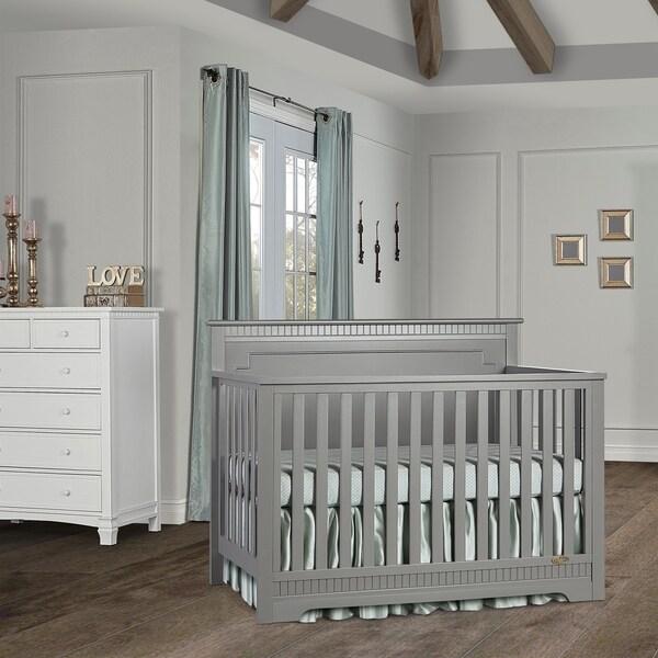 Dream On Me Morgan 5 in 1 Convertible Crib - Storm Grey