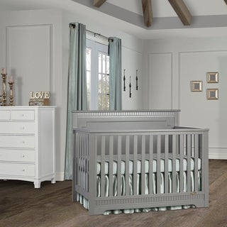 Dream On Me Morgan 5 in 1 Convertible Crib - Storm Grey