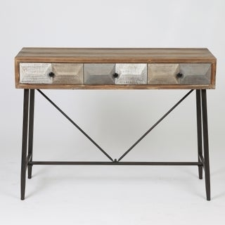 Link to Deco Distressed Wood 3-drawer Console Table Similar Items in Living Room Furniture