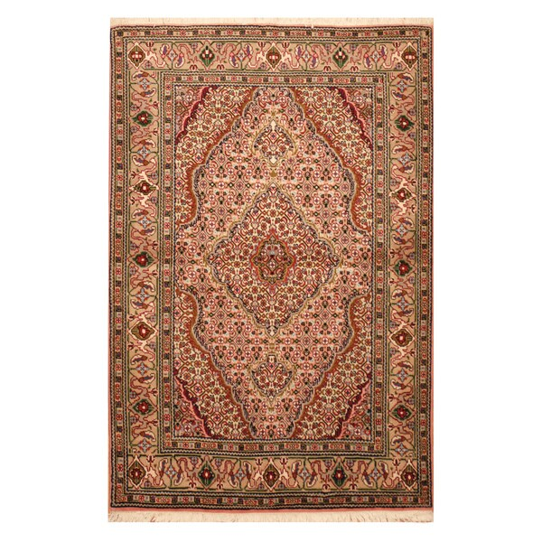 Persian Hand Knotted Nain Wool And Silk Area Rug Ebth: Shop Handmade Herat Oriental Persian Hand-Knotted Wool And