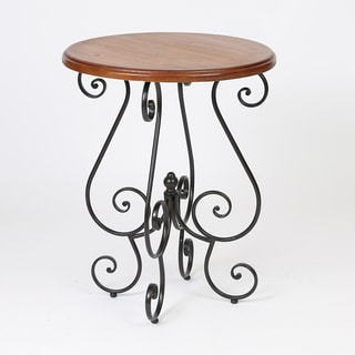 Honey-finished Round End Table