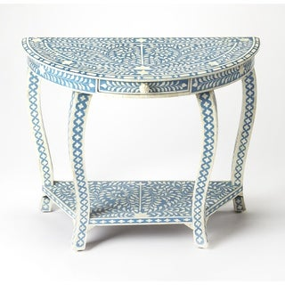 Butler Darrieux Blue Bone Inlay Demilune Console Table