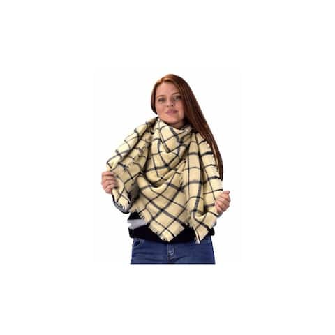 Peach Couture Tartan Plaid Blanket Scarves - Medium