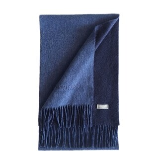 James Cavolini Italy Men's Cashmere Wool Double-Sided Royal Blue / Navy Scarf