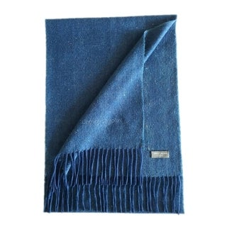 James Cavolini Italy Men's Cashmere Color Splash Blue Scarf