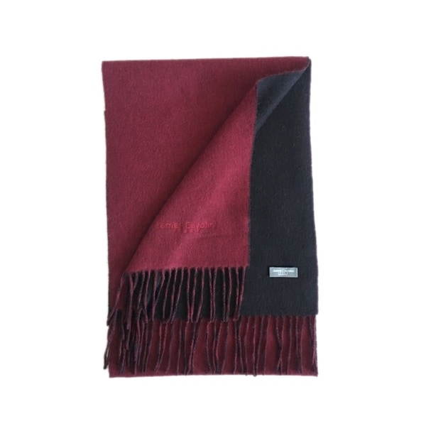 James Cavolini Italy Men's Cashmere Wool Double-Sided Red / Black Scarf. Opens flyout.