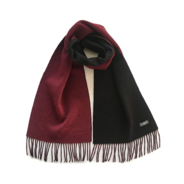 James Cavolini Italy Men/'s Cashmere Wool Double-Sided Red Black Scarf