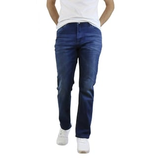 Link to Native Jeans Men's Washed Slim Fit Stretched Jeans Straight Leg Similar Items in Pants