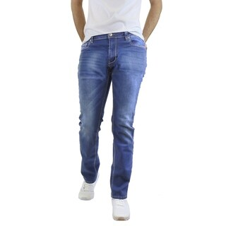 Native Jeans Men's Washed Slim Fit Stretched Jeans Straight Leg (Option: 34 Inch)
