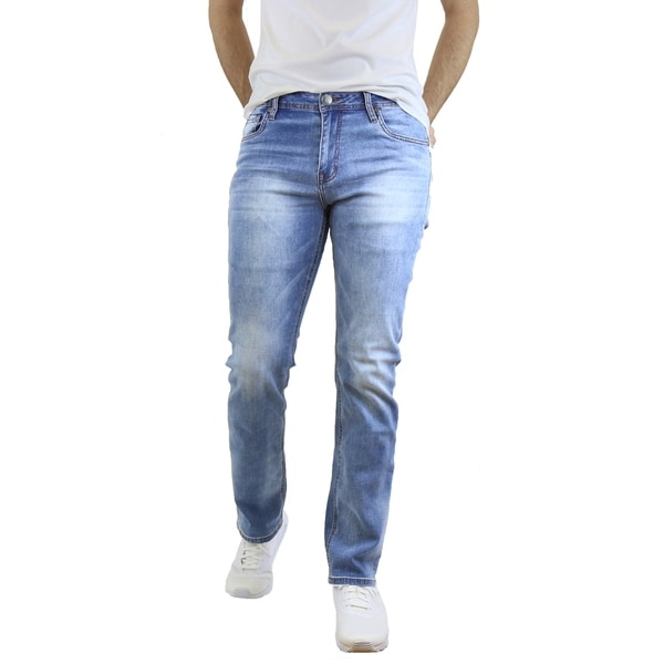 Native Jeans Men's Washed Slim Fit Stretched Jeans Straight Leg. Opens flyout.