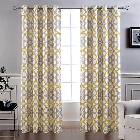 Carson Carrington Jarvenpaa Insulated Blackout Grommet Window Curtain Panel Pair (As Is Item)
