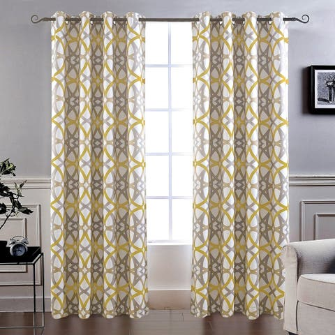 """Carson Carrington Lisalmi Insulated Blackout Grommet Window Curtain Panel Pair in Red/Grey - 52"""" x 84""""- (As Is Item)"""