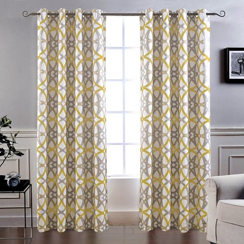 Carson Carrington Lisalmi Insulated Blackout Grommet Window Curtain Panel Pair