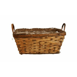 "Link to Wald Imports Brown Rattan Double 6"" Decorative Storage Basket Planter Similar Items in Decorative Accessories"