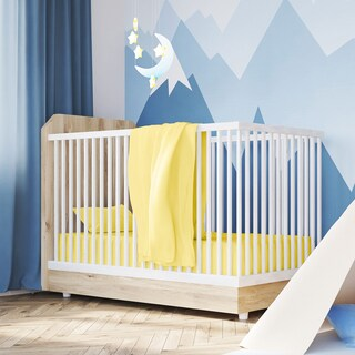 Exclusive Fabrics 100% Combed Cotton Toddler Jersey Crib Sheet (Set of 2 Sheets) (Option: Yellow)